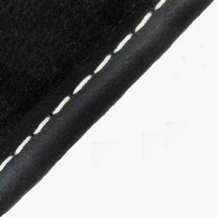 Čierna koženka + Biela niť